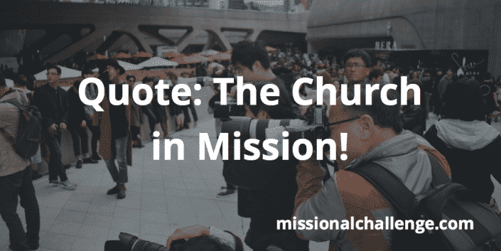 Quote: The Church in Mission