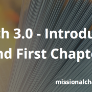 Church 3.0 - Introduction and First Chapter   missionalchallenge.com