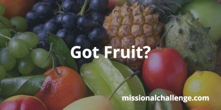 Got Fruit? | missionalchallenge.com