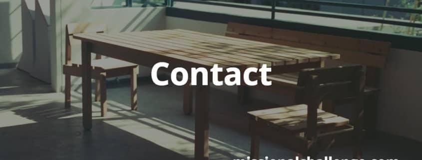 Contact | missionalchallenge.com