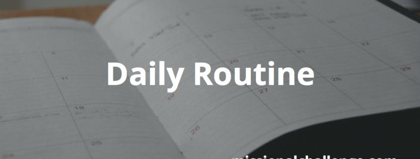 Daily Routine | missionalchallenge.com
